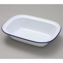 Enamel Pie Dish - 32cm, Falcon Housewares